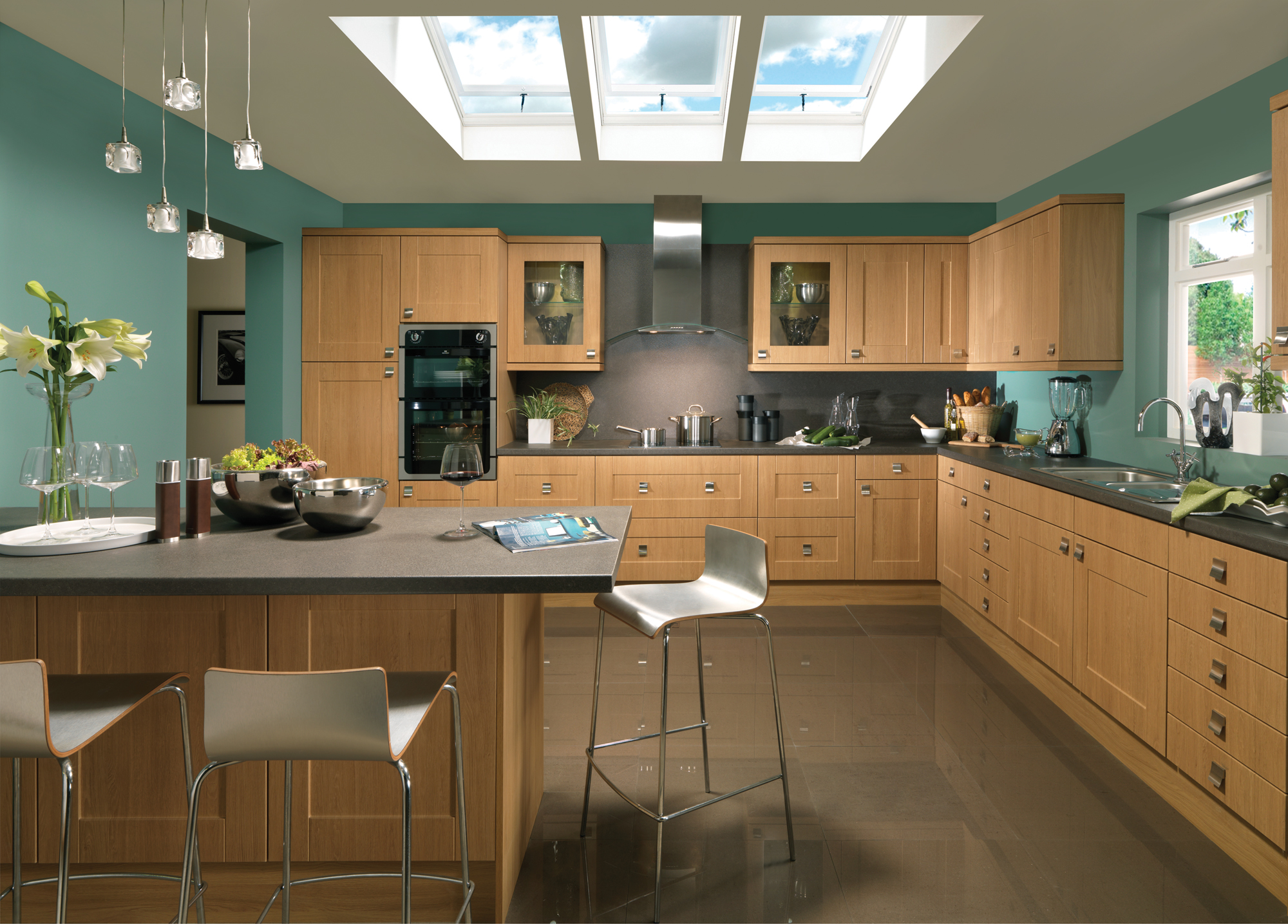 Kitchens checkers of churchtown southport for Kitchen ideas for walls